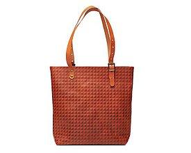 Veľké tašky - Ryšavá kožená taška. Dámska kožená taška. - 10835888_