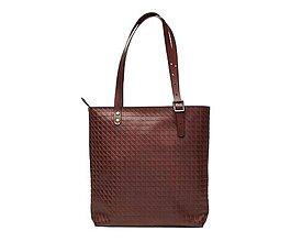 Veľké tašky - Hnedá kožená taška. Dámska veľká taška. - 10835896_