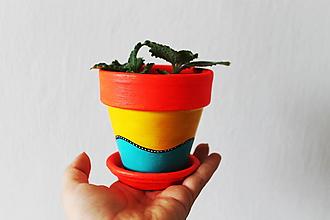 Nádoby - Kvetináč - Neón (malý) - 10836674_