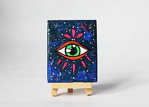 Dekorácie - Oko v galaxii - mini obrázok - 10836750_