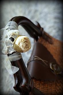 Náhrdelníky - Hodvábny náhrdelník béžový - 10837698_