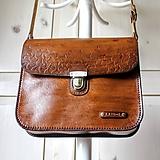 Vintage leather crossbody satchel