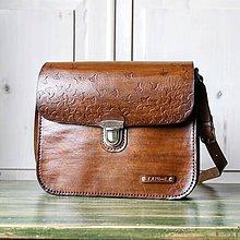 Kabelky - Vintage leather crossbody satchel - 10835789_