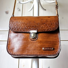 Kabelky - Vintage leather crossbody satchel - 10835790_