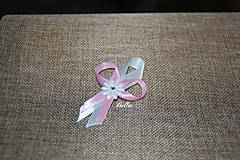Pierka - Svadobné pierko pre hostí ružovo biele - 10836491_