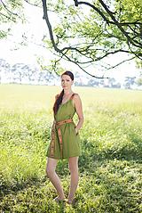 Šaty - ľanové šaty Olívia 2 - 10837418_