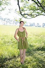 Šaty - ľanové šaty Olívia 2 - 10837420_
