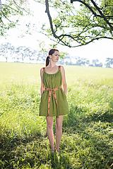 Šaty - ľanové šaty Olívia 2 - 10837421_