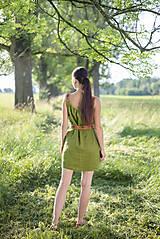 Šaty - ľanové šaty Olívia 2 - 10837424_