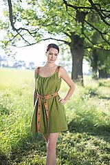 Šaty - ľanové šaty Olívia 2 - 10837426_