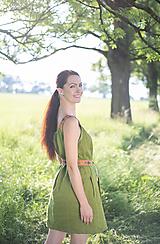 Šaty - ľanové šaty Olívia 2 - 10837427_