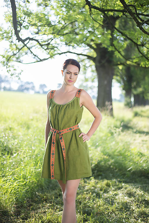 ľanové šaty Olívia 2