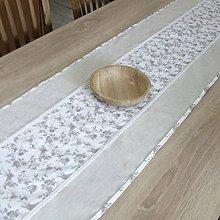 Úžitkový textil - BLANKA-drobné natur ružičky - stredový obrus - 10836937_