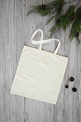 Nákupné tašky - Biela taška s kvietkom - 10837233_