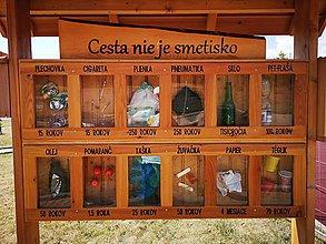 Pomôcky - Drevená náučná vitrína - 10836708_