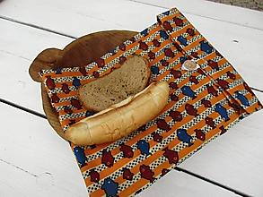 Úžitkový textil - voskované vrecko na zapínanie-rybka - 10835261_