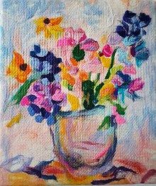 Obrazy - Kytica kvetov - 10836721_
