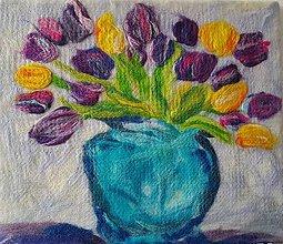 Obrazy - Kytica tulipánov - 10836778_