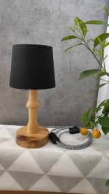 Svietidlá a sviečky - Drevená lampa Agáta - 10836732_