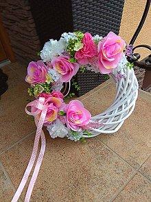 Dekorácie - Ružový veniec - 10837713_