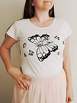 Tričká - Tričko - na krídlach motýlích, biele - 10836211_