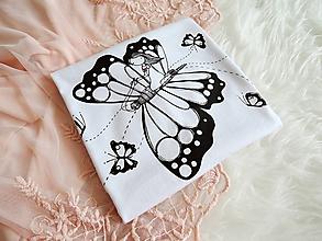 Tričká - Tričko - na krídlach motýlích, biele II. - 10836185_