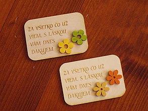 Magnetky - Drevená magnetka s farebnými kvietkami pre učiteľky - 10835395_