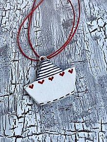Náušnice - námornícke lodičky so ♥ (náhrdelník) - 10835504_