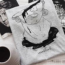 """Tričká - Sivé dámske tričko """"Busta"""" - 10839196_"""
