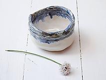 Nádoby - Keramická miska perleť+modrá - 10839808_