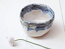 Nádoby - Keramická miska perleť+modrá - 10839810_