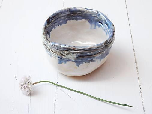 Keramická miska perleť+modrá
