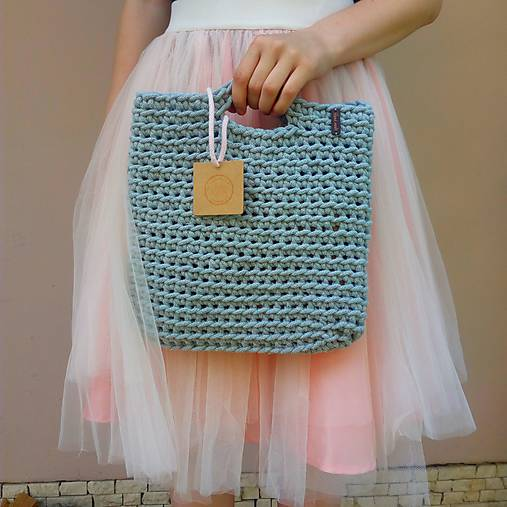 LOVE bag - grey&gold