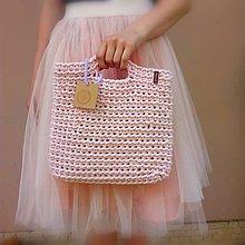 Veľké tašky - LOVE bag - pink&gold (Ružová) - 10839419_