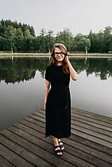 Šaty - Černé dlouhé šaty Bambus - 10840060_