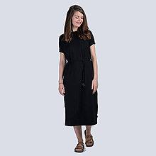 Šaty - Černé dlouhé šaty Bambus - 10840058_