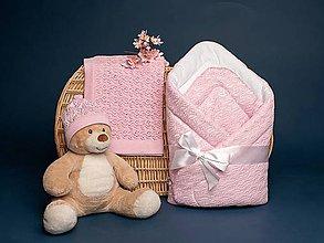 """Textil - Zavinovačka, deka, čiapočka, """"Miss"""", OEKO-TEX® - ružová - 10840044_"""