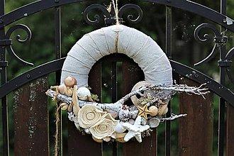 Dekorácie - Venček z darov mora - 10839617_