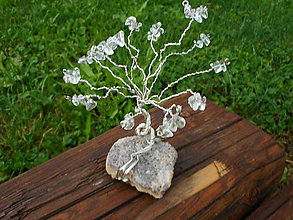 Dekorácie - stromček pre šťastie-ametyst-krištáľ - 10838934_