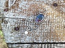 Náhrdelníky - Strieborný prívesok s indickým achátom.. - 10839742_