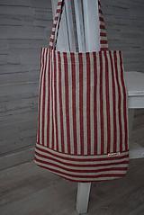 Nákupné tašky - PRUHOVANÁ... - 10839443_