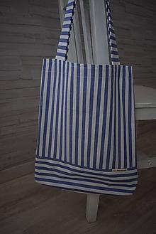 Nákupné tašky - PRUHOVANÁ... - 10839428_