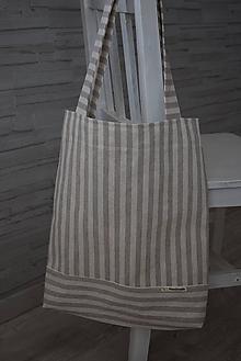 Nákupné tašky - PRUHOVANÁ... - 10839438_
