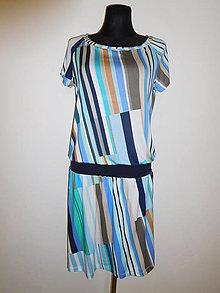 Šaty - Šikmé proužky - 10838018_