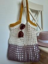 Nákupné tašky - Sieťovka Ametyst-smotana-kari - 10839792_