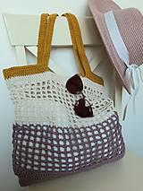 Nákupné tašky - Sieťovka Ametyst-smotana-kari - 10839793_
