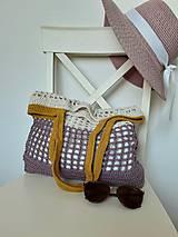 Nákupné tašky - Sieťovka Ametyst-smotana-kari - 10839794_