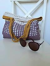 Nákupné tašky - Sieťovka Ametyst-smotana-kari - 10839795_