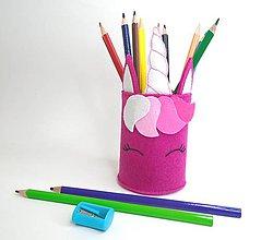 Detské doplnky - Stojan na ceruzky (Unicorn) - 10838219_