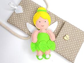 Hračky - Drobnosti v kapsičke pre dievčatá (Víla zelená) - 10838247_